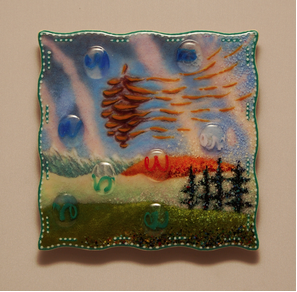 Pinecone Wind by glass artist Michael Dupille