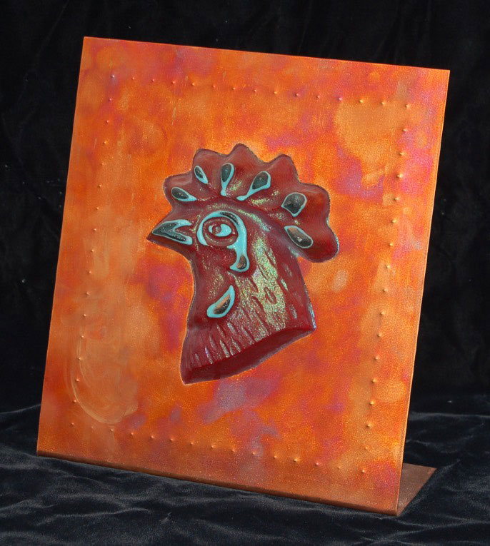 Little Red by glass artist Michael Dupille