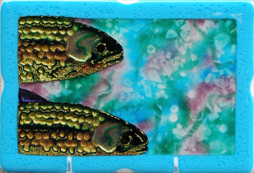 Watercolor Fish cropped by glass artist Michael Dupille